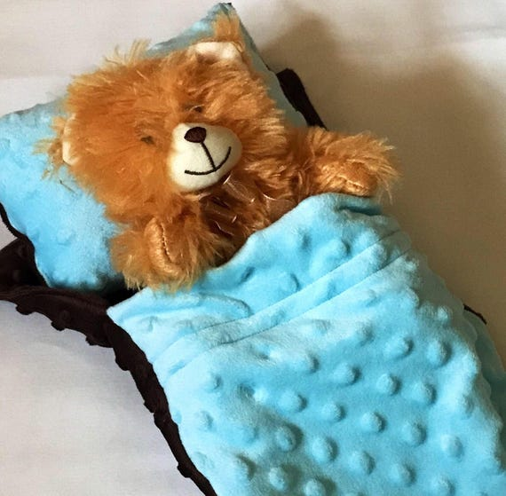 Baby Doll Stuffed Animal Sleeping Bag With Pillow Etsy