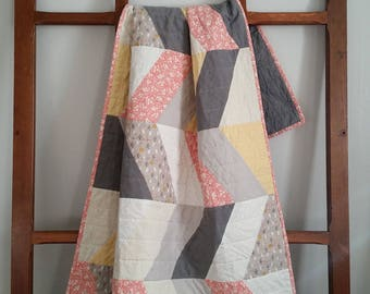 Stitched to Order Modern Heirloom Baby Quilt - August Delivery
