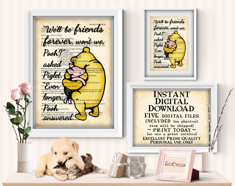 We'll Be Friends Forever Winnie the Pooh & Piglet image 0