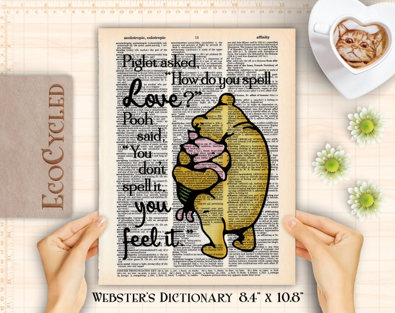 How Do You Spell Love Feel It Winnie the Pooh & Piglet image 0