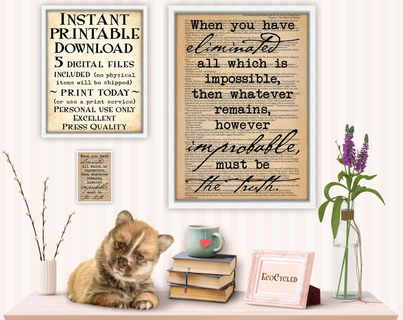 Sherlock Holmes Eliminate Impossible Remains Truth printable image 0