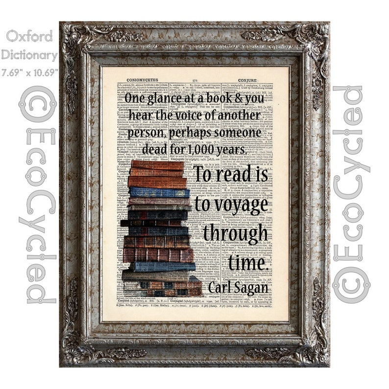 Carl Sagan Quote on Reading Books To Read is to Voyage Through image 0