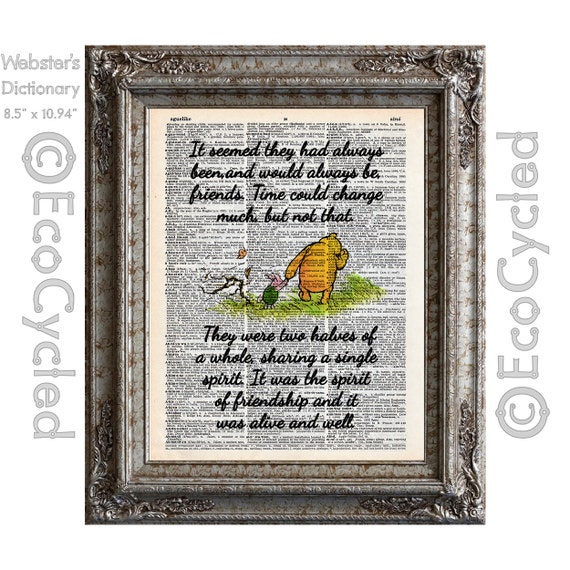 Winnie The Pooh And Piglet Quote 60 Spirit Of Friendship Etsy Inspiration Winnie The Pooh Quotes About Friendship