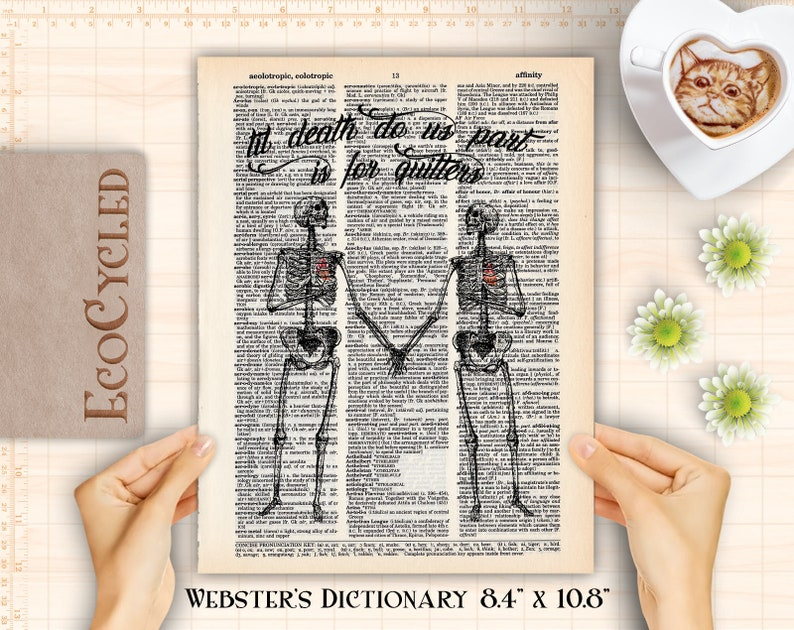 Till Death Do Us Part For Quitters Skeletons Anniversary image 0
