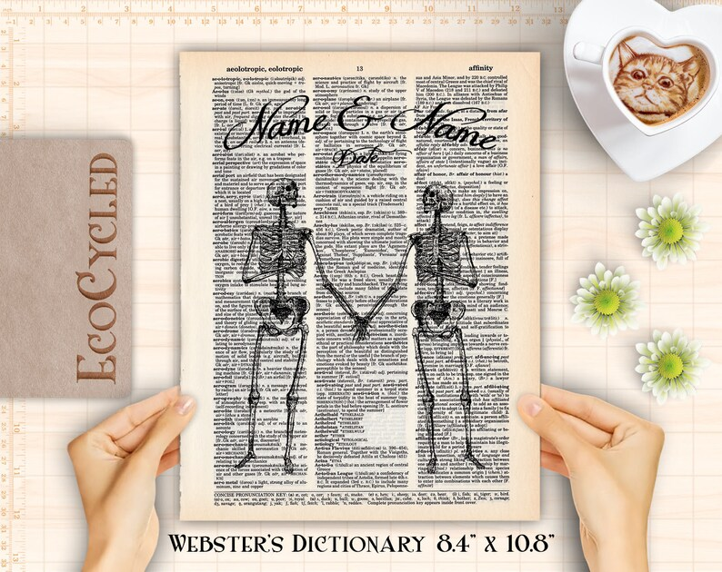 Skeletons in Love Customized Anniversary Wedding Gift on image 0