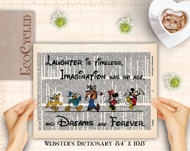 Mickey Mouse & Friends Dreams Are Forever Disney Decor Prints image 0
