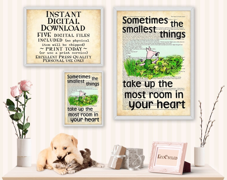 Piglet smallest things take up the most room in your heart image 0