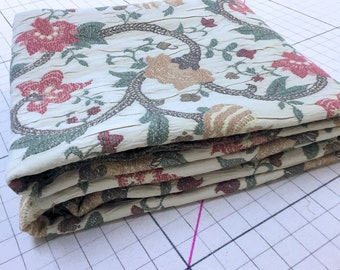 Home Decor Upholstery Weight Floral Crinkle Fabric