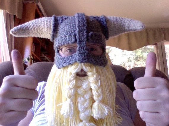 Crochet Pattern Pdf Skyrim Inspired Viking Helmet With Etsy