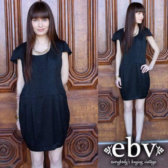 Little Black Dress Silk Dress Party Dress Vintage