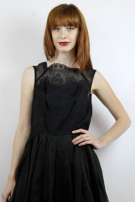 Black Prom Dress 50s Cocktail Dress 50s Party Dre… - image 3