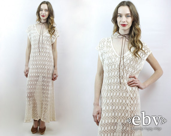 Festival Dress Crochet Maxi Dress Hippie Dress Hip