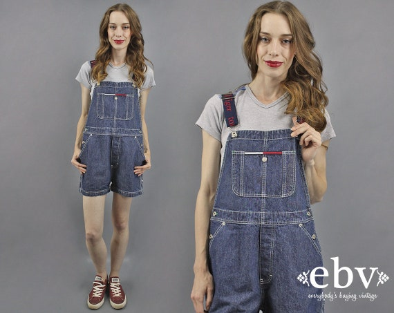 Tommy Overalls Tommy Shortalls 90s Tommy Hilfiger