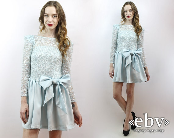 Baby Blue Cocktail Dress Ice Queen Dress Blue Prom