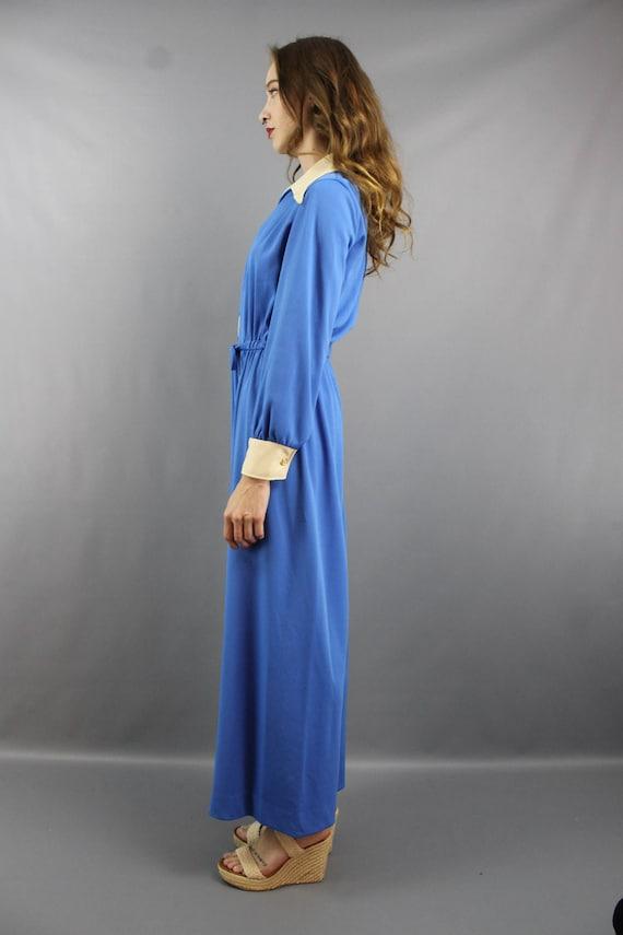 1970s Jumpsuit 70s Jumpsuit Hippie Jumpsuit Blue … - image 5