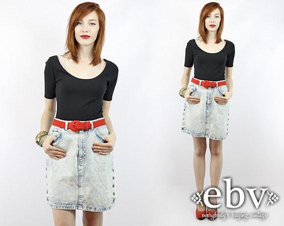 Acid Wash Skirt Acid Wash Denim Skirt Jean Skirt J