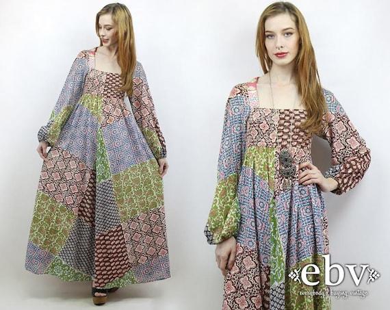Patchwork Dress  Festival Dress Boho Dress Hippie