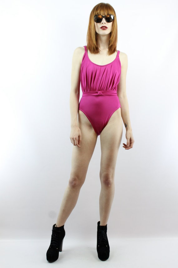 Vintage Swimsuit Pink Swimsuit 80s Swimsuit One P… - image 2