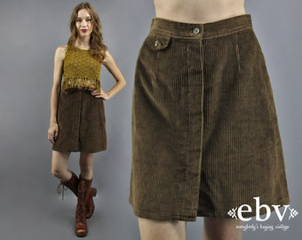 Cord Skirt Corduroy Skirt High Waisted Skirt High Waist Skirt Brown Cord Skirt Fall Skirt 1990s Skirt Ralph Lauren Skirt 90s Skirt S M