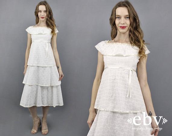70s Wedding Dress 1970s Wedding Dress Eyelet Lace