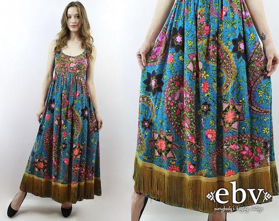 0485993e348 ... Fair Trade By Folio Gothic. D234 Hippy Dress Bohemian Tribal Bakul Print  Strapless Maxi -  Source. Hippie Dress Hippy Boho Bohemian Festival Fringe  ...