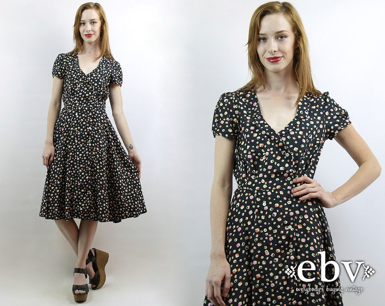8389e75f95c 40s Style Dress 1940s Style Dress Secretary Dress Day Dress
