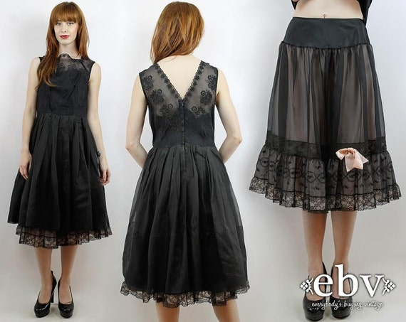 Black Prom Dress 50s Cocktail Dress 50s Party Dres