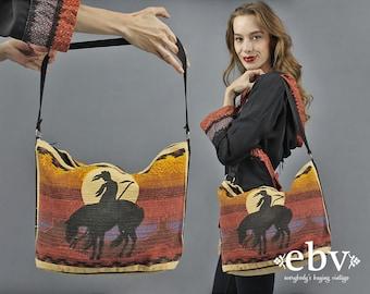 Hippie Bag Hippy Bag Boho Bag Bohemian Bag 1970s Bag 70s Bag Travel Bag Indian Bag Horse Bag Festival Bag Hippie Purse 70s Purse