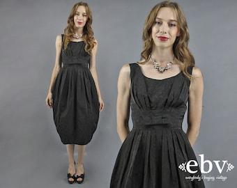 50s Cocktail Dress 50s Party Dress 50s Dress Black Dress Vintage 1950s Dress Black Prom Dress Mad Men Dress Cocktail Party Dress