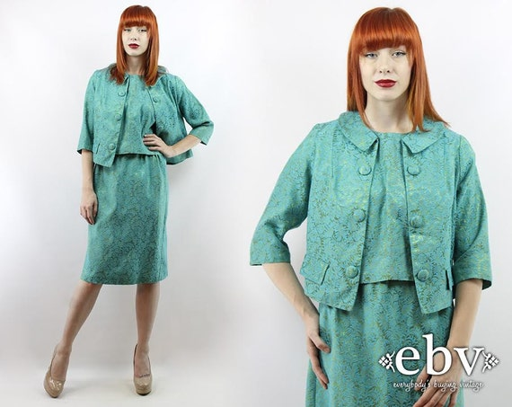 Vintage 50s Three Piece Skirt Suit L XL Three Piec