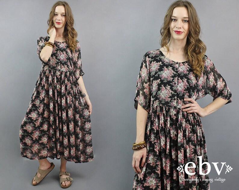 ede9f652d17 Black Indian Dress Indian Maxi Dress 90s Maxi Dress India Maxi