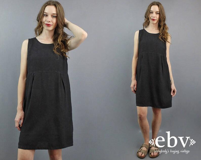 0f34a06039 Minimalist Dress Minimal Dress Black Linen Dress Babydoll