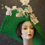 PRIZE WINNING HATS! Kentucky Derby Hat Derby Hat Victorian Church Hat Downton Abbey Hat Garden Party Hat Tea Party Hat Woman's Green Hat 181