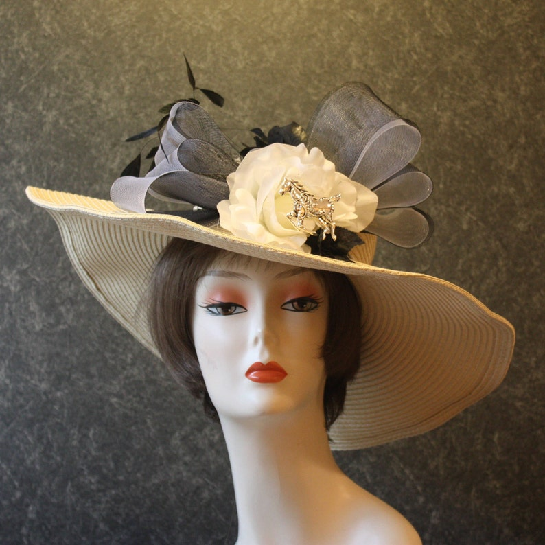 4a65d6cc EXCLUSIVITY GUARANTEED Kentucky Derby Hat Victorian Hat   Etsy