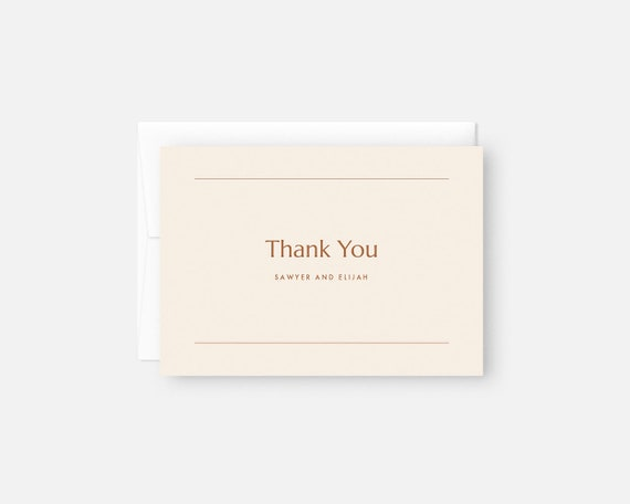 Wedding Thank You Cards Personalized Thank You Notes Etsy