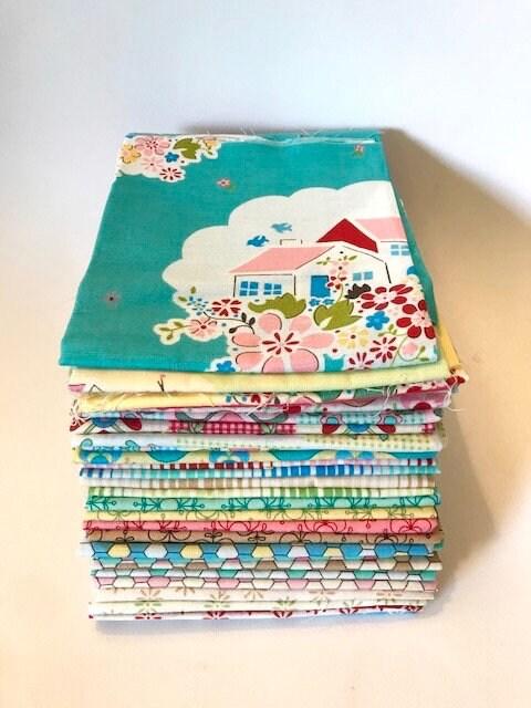 Rosalie Quinlan pour 34 fleuri 34 pour Fat Quarter Bundle courtepointe japonais coton tissu 30 Retro grand-mère Lecien d31745