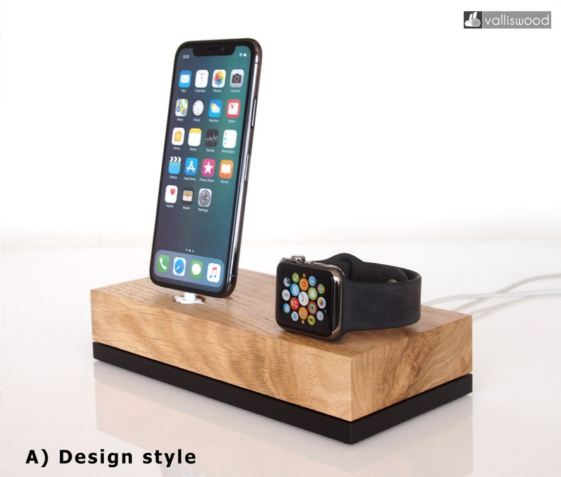 reputable site 86782 45584 PRE-ORDER Apple Watch dock / iPhone dock, iPhone 6 dock, iPhone 7 dock,  iPhone 8 dock, iPhone X dock, handcrafted, unique gift, gift ideas