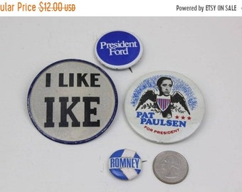 007ba51cfe ON SALE Vintage Political Pins I Like Ike Vari-Vue Flasher Campaign Button  Pat Paulsen George Romney Jerry Ford Instant Collection President