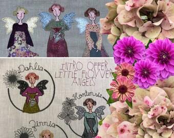 FLOWER ANGELS - all three angels - 15 Designs - Dahlia, Hortensia and Zinnia