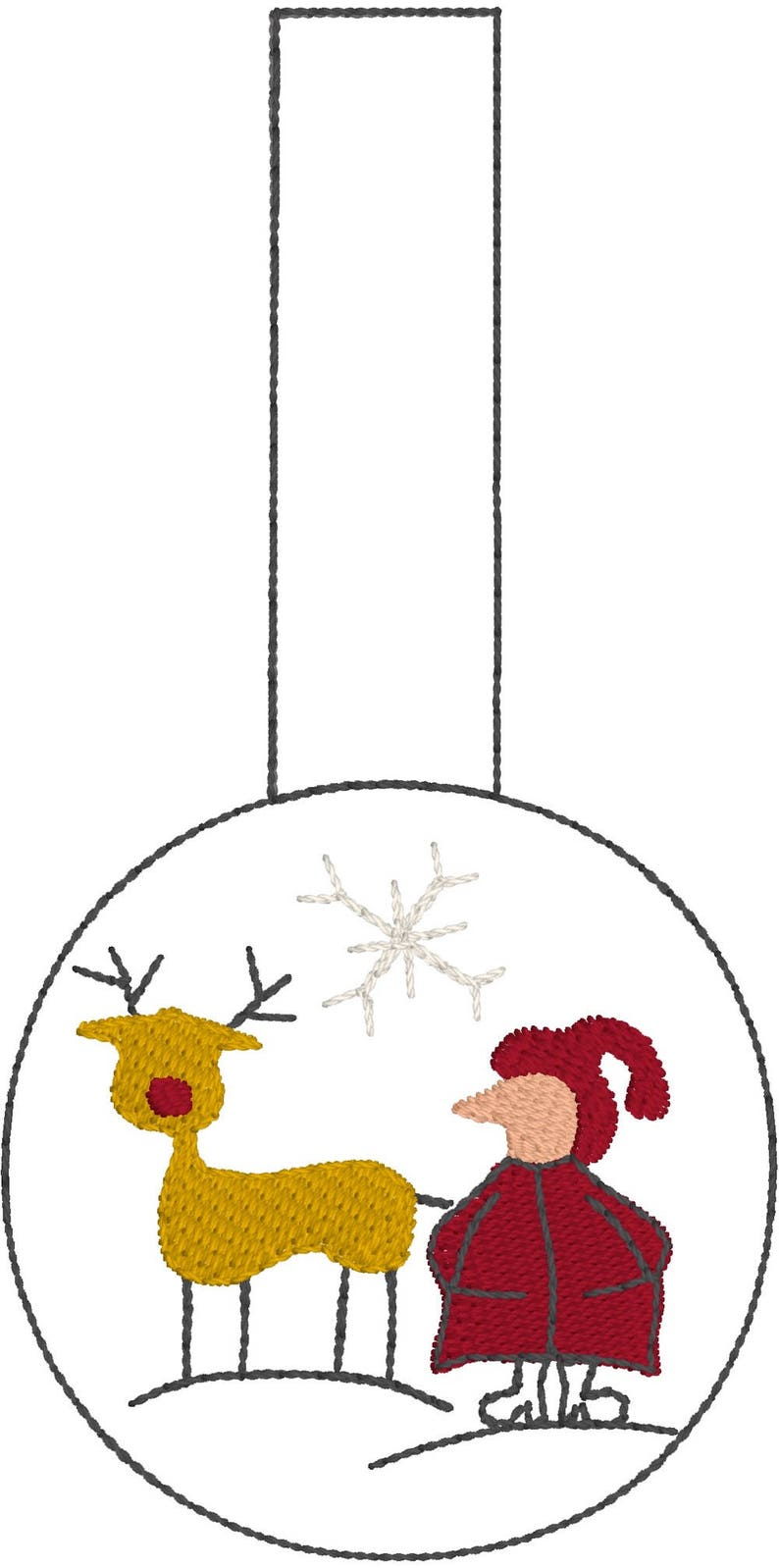 8 whimsical machine embroidery designs SANTA and RUDOLF the red nosed reindeer in a Christmas Invasion in fruBlomgren/'s Shop PIXIES