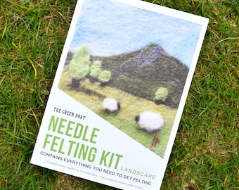 Needle Felting Kit – Landscape Picture