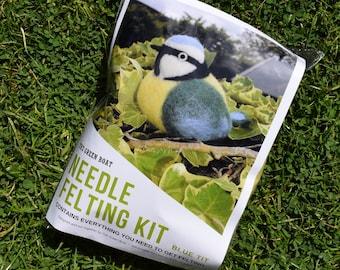 Needle Felting Kit – Blue Tit