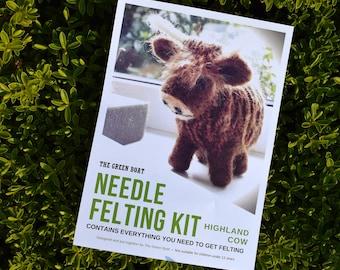 Needle Felting Kit – Highland Cow