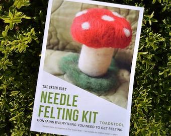 Needle Felting Kit – Toadstool