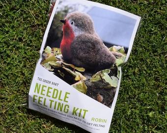 Needle Felting Kit – Robin