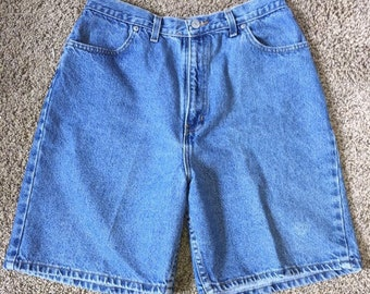 8d94f2d390 Vintage Faded Glory high waisted mom jeans shorts size 14 blue jean Shorts  Tall
