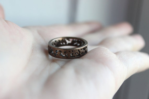 Items similar to 3d Printed Steel Ring - MATH DESIGN - Unisex on Etsy