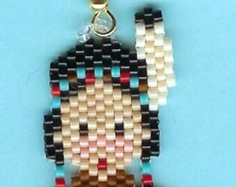 Hand Beaded Little Indian Girl earrings