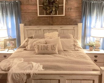Wood Bed Frame Etsy