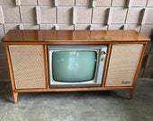Mid century Modern Zenith Stereo Television Console